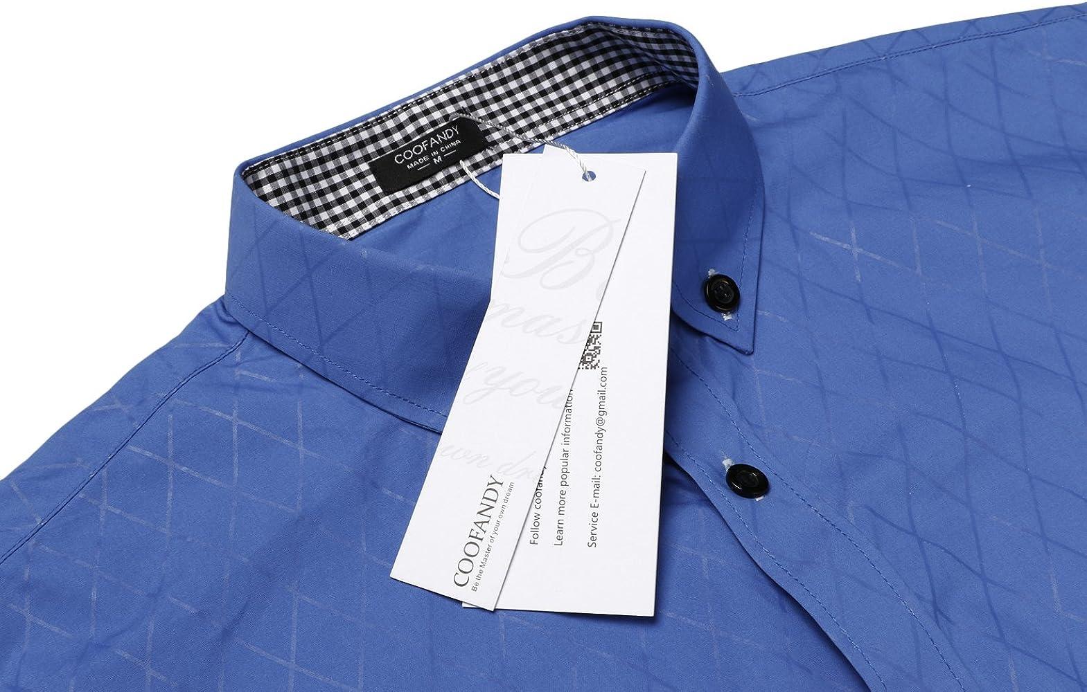 Coofandy - Camisa Casual - para Hombre Azul M: Amazon.es: Ropa y accesorios