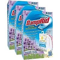 DampRid Lavender & Vanilla Hanging Moisture Absorber, 3 ct, 42 oz