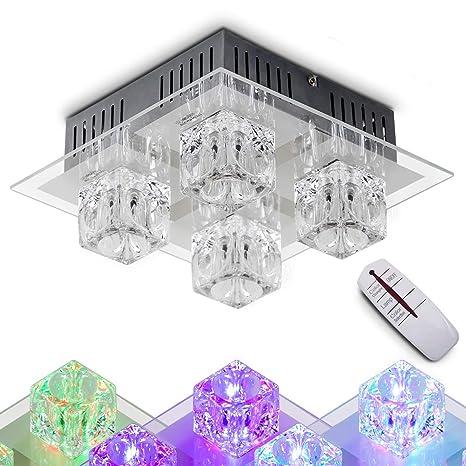 Oro coulour LED halógenas de lunares lámpara de techo con ...
