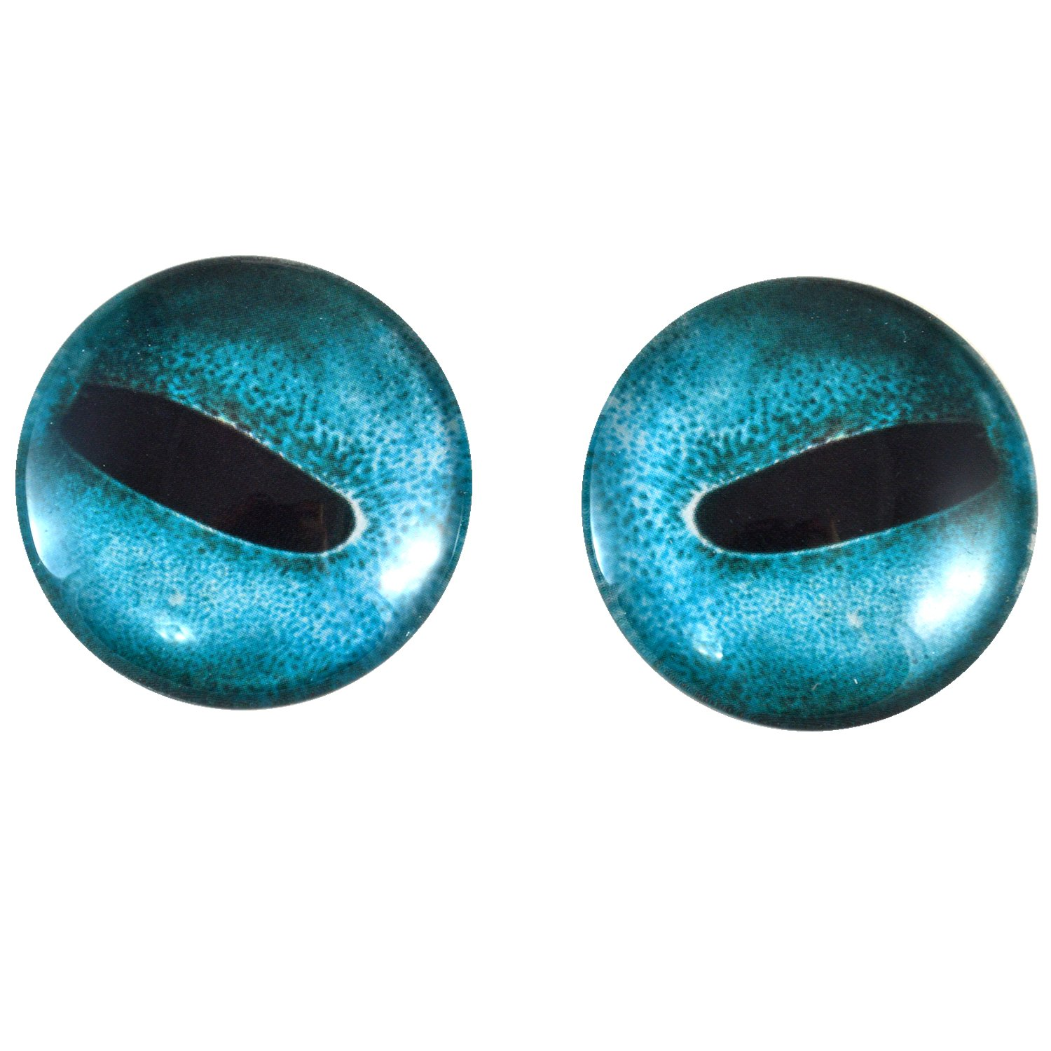 40mm Pair of Large Blue Octopus Glass Eyes, for Jewelry making, Arts Dolls, Sculptures, and More