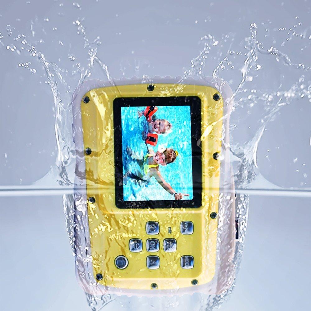 Kids Camera 12MP HD Children Underwater 3M Waterproof Action Camera Camcorder 2-Inch LCD, 4x Digital Zoom, Mic 9.9 ft Waterproof Digital Camera Birthday Learn Camera