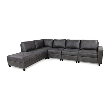 Amazon.com: Kama Chaise Sectional Sofa Set, 5-Seater, Hidden ...