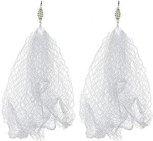 شبكة صيد من النحاس للربيع مع شبكة خرز مضيئة لصيد الأسماك الليلية