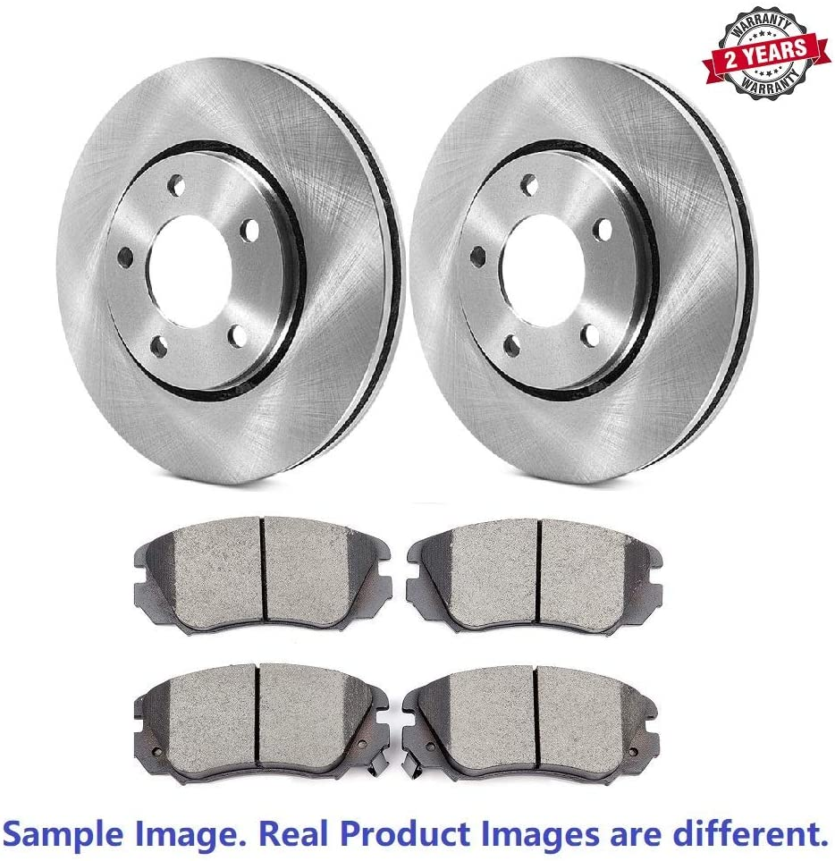 Brake Pads Include Hardware With Two Years Manufacturer Warranty Front Disc Brake Rotors and Ceramic Brake Pads for 2017 Subaru WRX