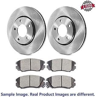 Max Brakes Front Premium Brake Kit OE Series Rotors + Ceramic Pads KT042841 Fits: 2010 10 2011 11 2012 12 Mazda MazdaSpeed 3