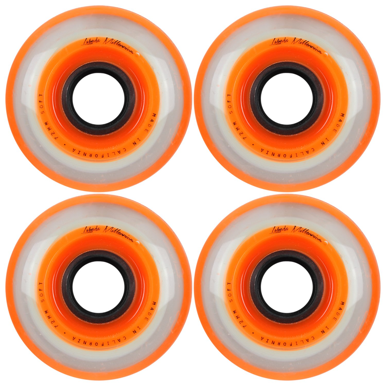 76mm DECK Labeda Asphalt Orange Inline Skate Wheels