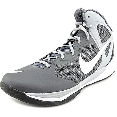 628f99861227 NIKE Mens Prime Hype DF Basketball Shoe Dark Grey Wolf Grey Black White