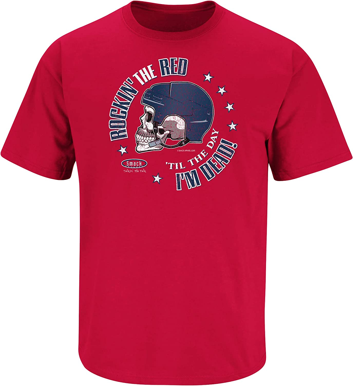 Sm-5X Rockin the Red Til the Day Im Dead Red T-Shirt Washington Hockey Fans