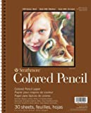 """Strathmore 477-9 Colored Pencil PAD 9X12 30SHT 400 Series, 9""""x12"""", 30 Sheets"""