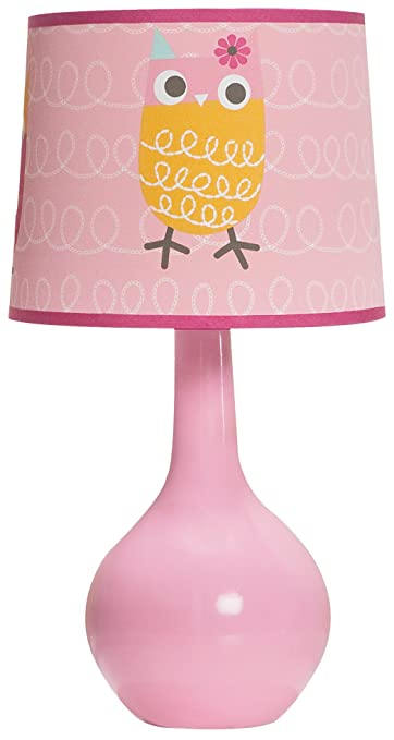 Zutano Owl Lamp Base And Shade, Pink (Discontinued By Manufacturer)