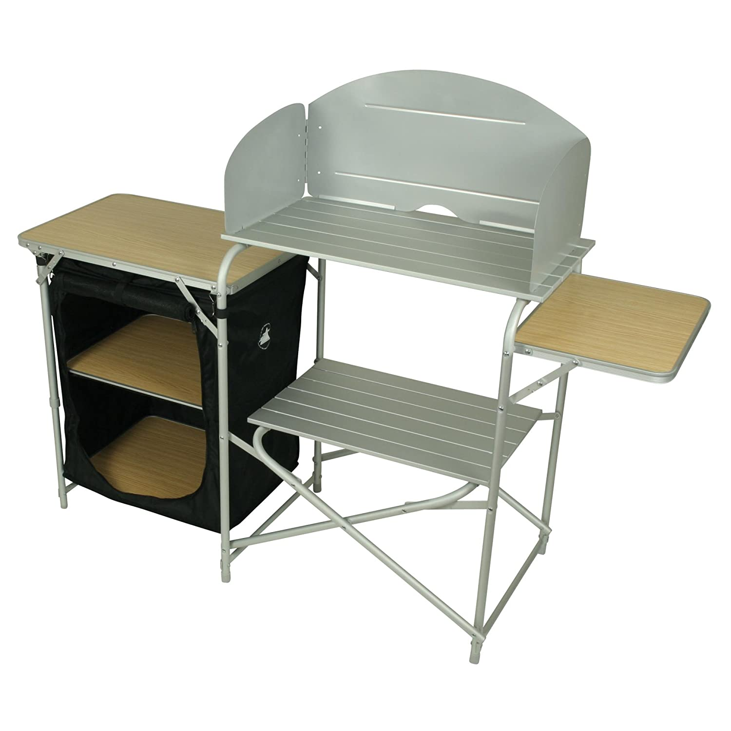 10T Outdoor Equipment 10T Kitchenette Armario de camping, Plateado ...