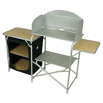 10T Kitchenette Alu Campingküche 145x48x111cm Kocherschrank mit ...