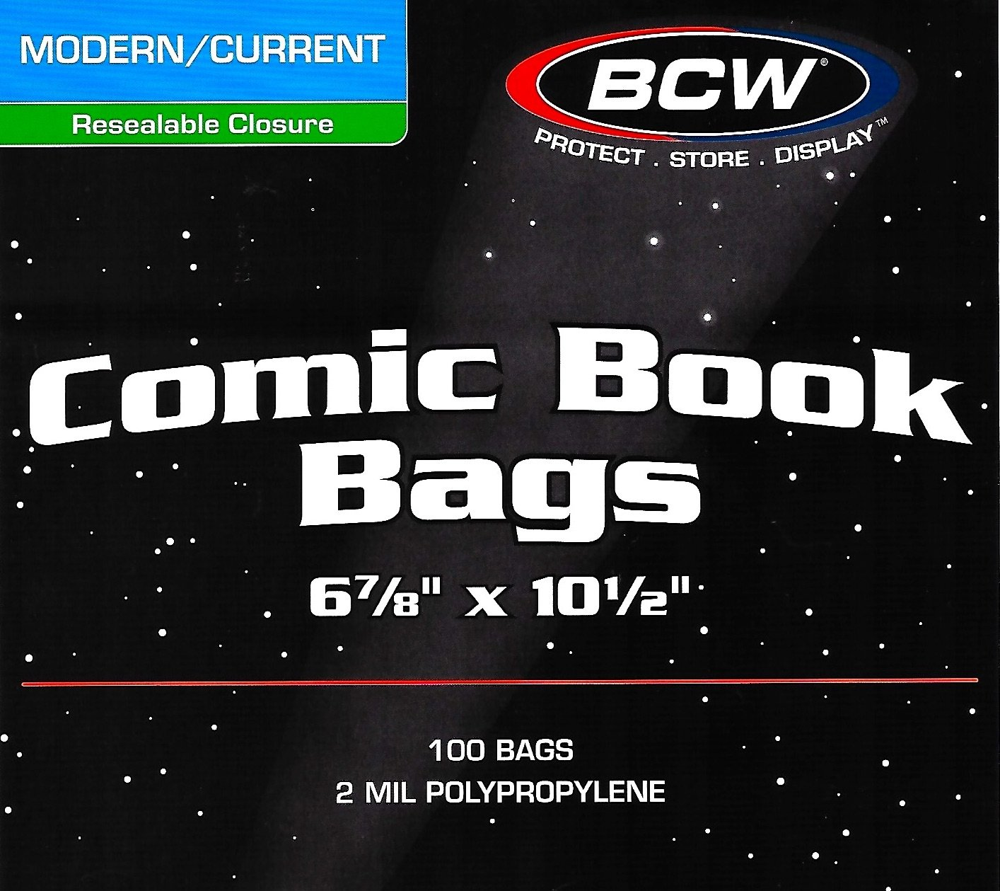 800 Current Modern Resealable Comic Bags and Backing Boards by BCW