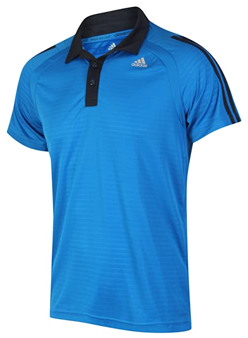 Adidas Clima Refresh Polo Camiseta de Azul Blue with Black Features X-Small