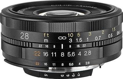 amazon com voigtlander 28mm f 2 8 sl ii aspherical manual focus rh amazon com canon ef mount manual focus lens Canon 40Mm Lens