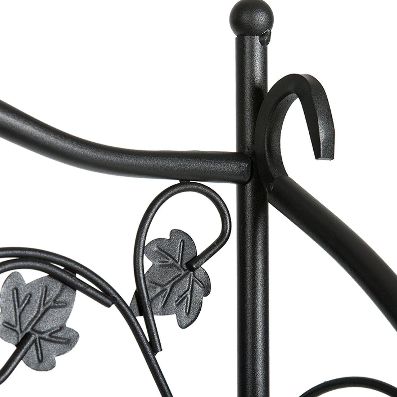 Schwarz DOEWORKS 2 Etagen Metall Pflanzenst/änder Blumentreppen Blumentopf Gartenregal Lagerregal Topfhalter f/ür Indoor Outdoor