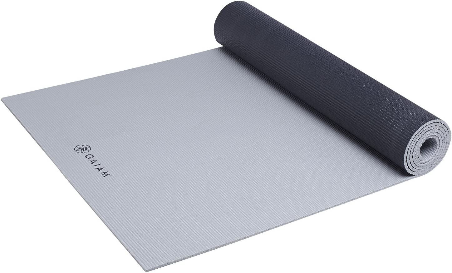Amazon Com Gaiam Athletic Yoga Series Dynamat Xtra Wide Mat Black Gray 5mm Sports Outdoors