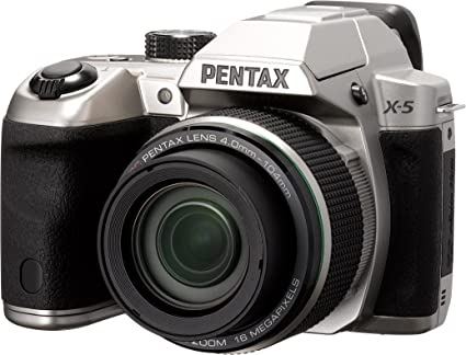 12956339ee5e Pentax X-5 silver 16 Digital Camera with 26x Optical Image Stabilized Zoom  with 3