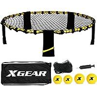 XGEAR Juego de Spike Set Mini Voleibol Novedoso Regalo Exterior e Interior con 4 Bolas Pelotas 1 Mochila 1 Bomba y 1 Regla del Juego