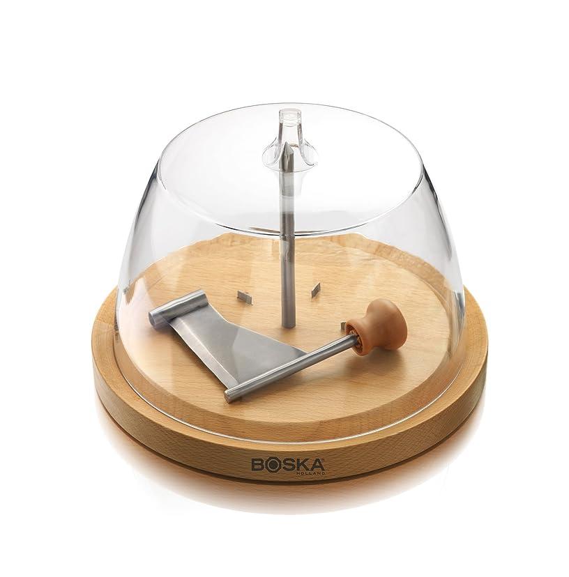 歴史襟睡眠WINOMO ケーキドーム ケーキスタンド ピザボード カッティングボード 丸 ガラス 竹製 21x21cm