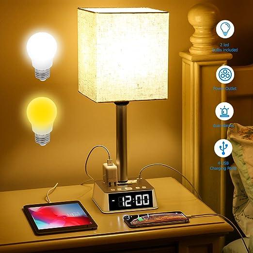 Amazon.com: Lámpara de mesa – Lámparas de mesita de noche ...