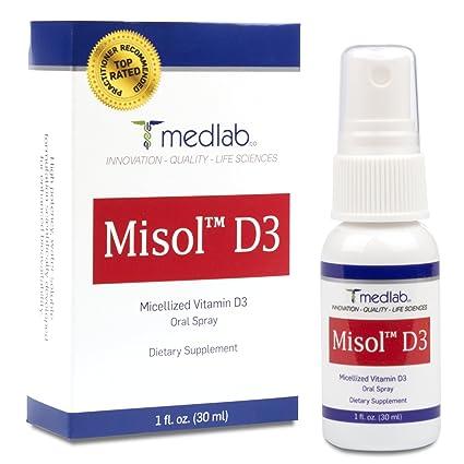 Vitamina D3 Spray Oral (5000IU Por aerosol) Vitamina D3 Concentrada con alta tasa de