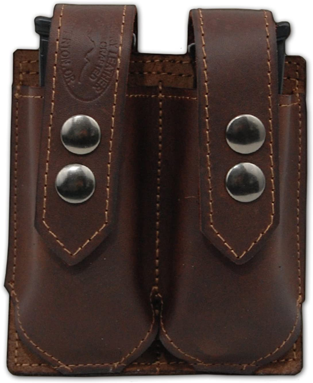 Barsony New Brown Leather Single Magazine Pouch for Full Size 9mm 40 45 71U5-gYIMhL