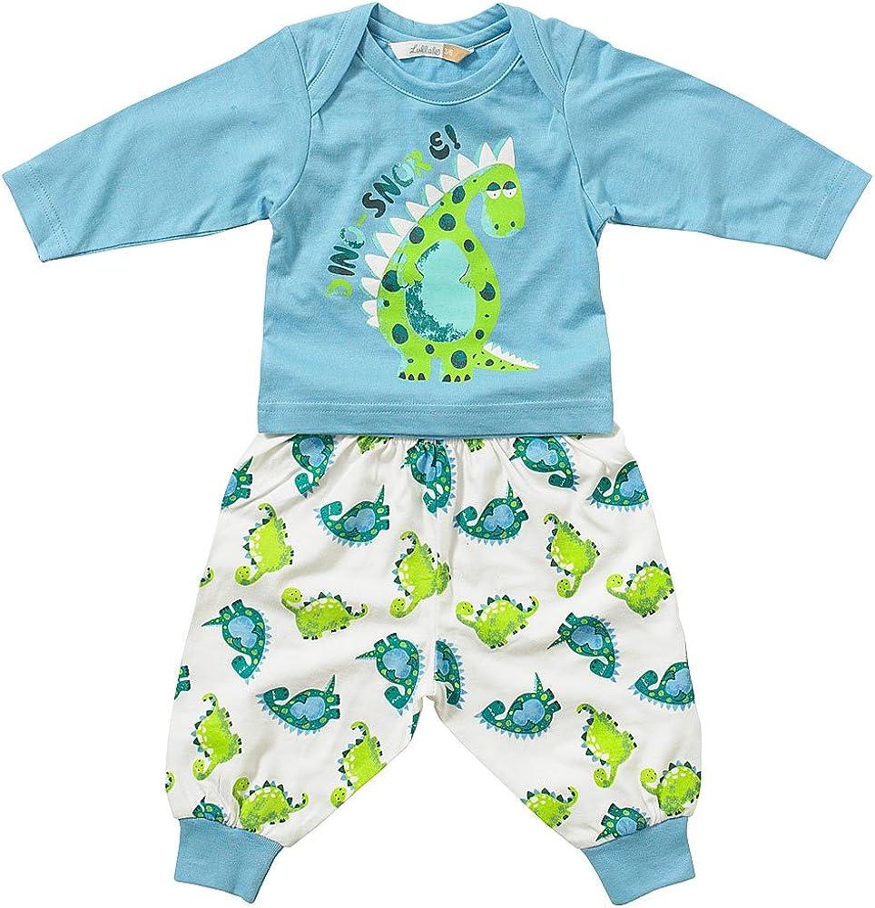 Lullaby Baby Boys Cute Dinosnore Print Pyjamas