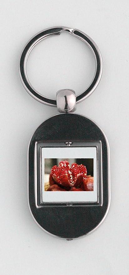 Granada abierta, núcleos, llavero, diseño de frutas: Amazon ...