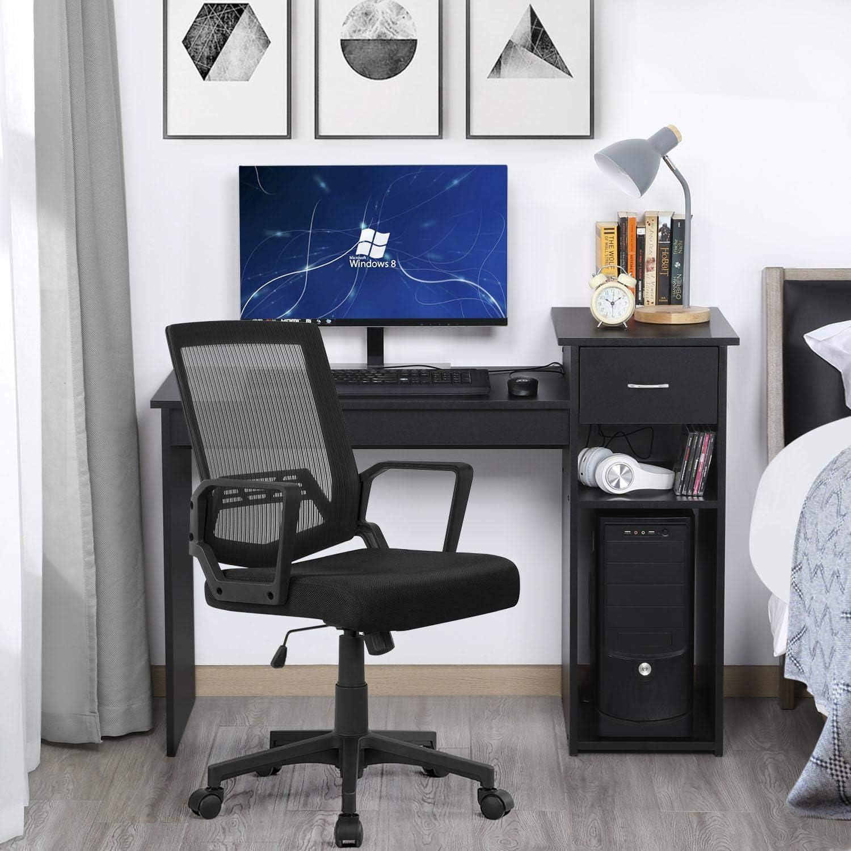 Yaheetech B/ürostuhl Ergonomischer Schreibtischstuhl Drehstuhl Computerstuhl Chefsessel office Stuhl stufenlos h/öhenverstellbar