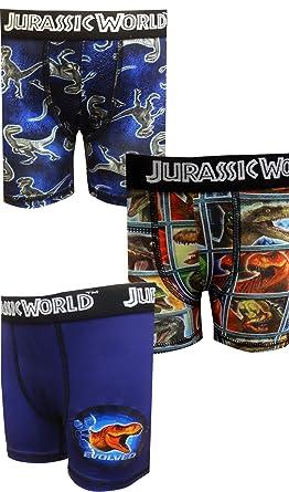 23d0e79060 Bioworld Merchandising Boys' Jurassic World Dinosaur 3 Pack Boxer Briefs ...