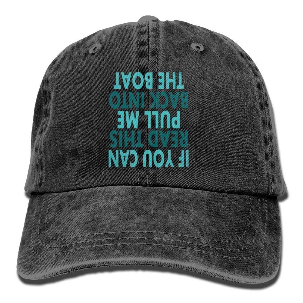 Funny Fishing Denim Baseball Caps Hat Adjustable Cotton Sport Strap Cap for Men Women Wesbe
