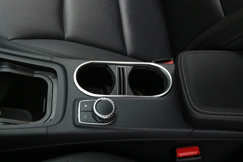 ABS Chrome Cup Holder Cover Trim for Mercedes Benz CLA 14-17 GLA 14-17 A Class W176 A180 2013-2017 Autobro