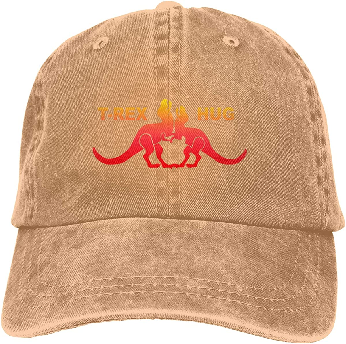 T Rex Hug Novelty Unisex Washed Cap Adjustable Dads Denim Stetson Hat