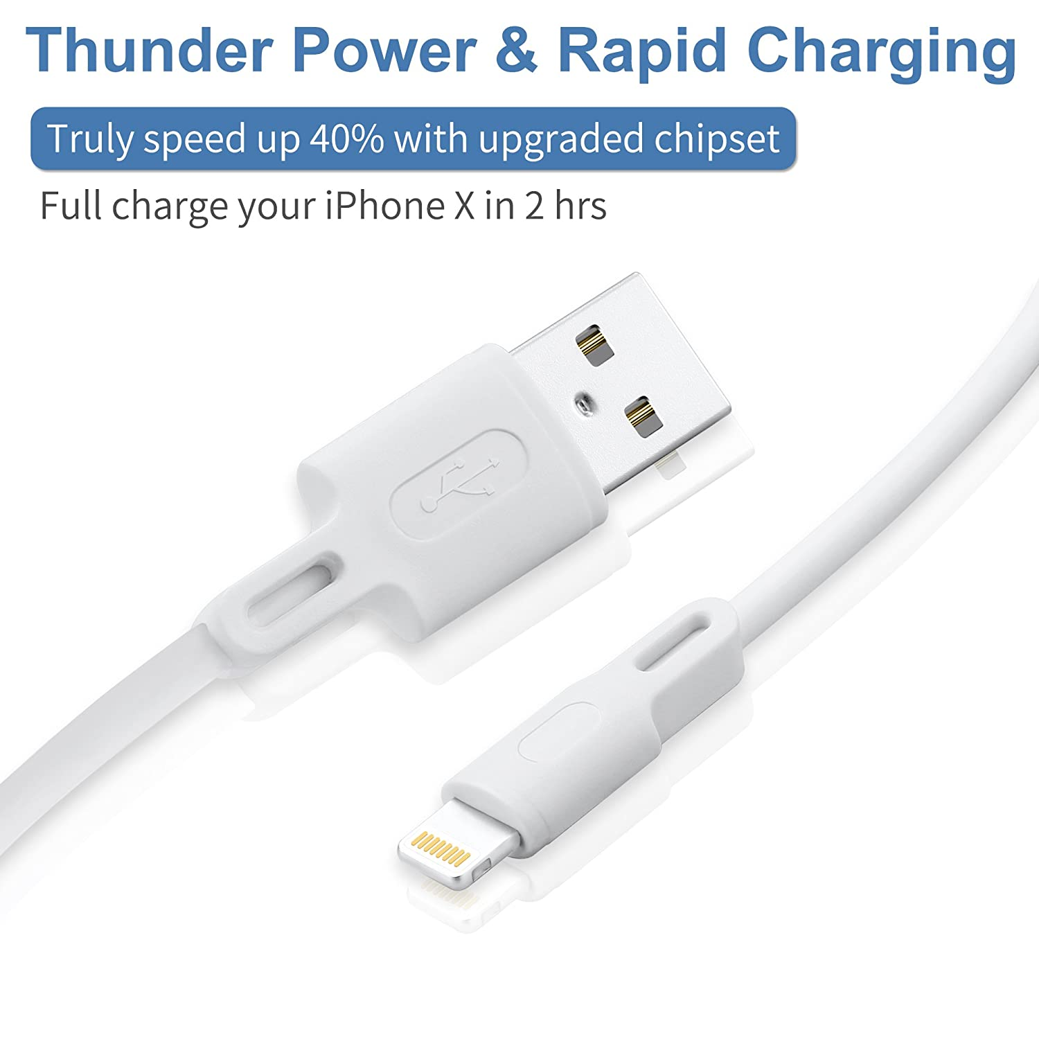 Fast USB Charging Cords Data Cord Compatible with Phone XS MAX XR X 8 8 Plus 7 7 Plus 6s 6s Plus 6 6 Plus and More Bkstone Phone Charger