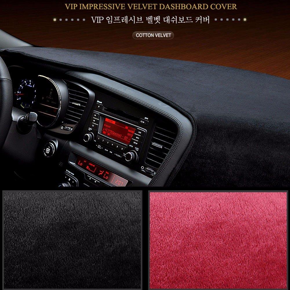 SK019 BLack//Red Velvet Dashboard Dash Sun Cover Mat Carpet For Kia All New Soul 2014