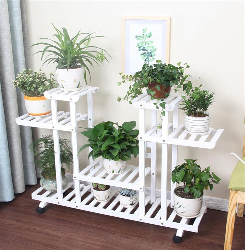 Amazon.com: Indoor/Outdoor Flower Shelf with 4 Tiers Living ...