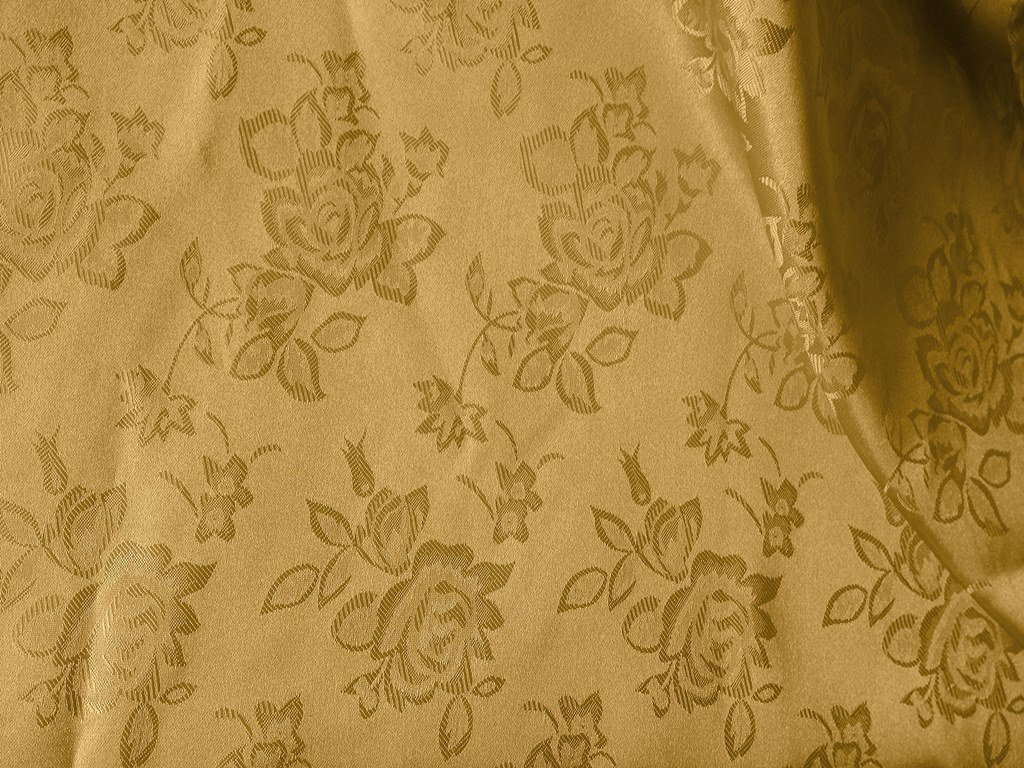 Brocade Jacquard Satin Sand 60 Inch Fabric By the Yard from The Fabric Exchange つ by The Fabric Exchange   B00E5QOLVO