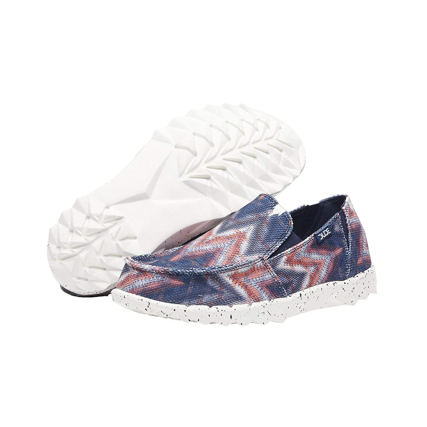 Dude Shoes Hommes Farty Print SOx Navy Tipi