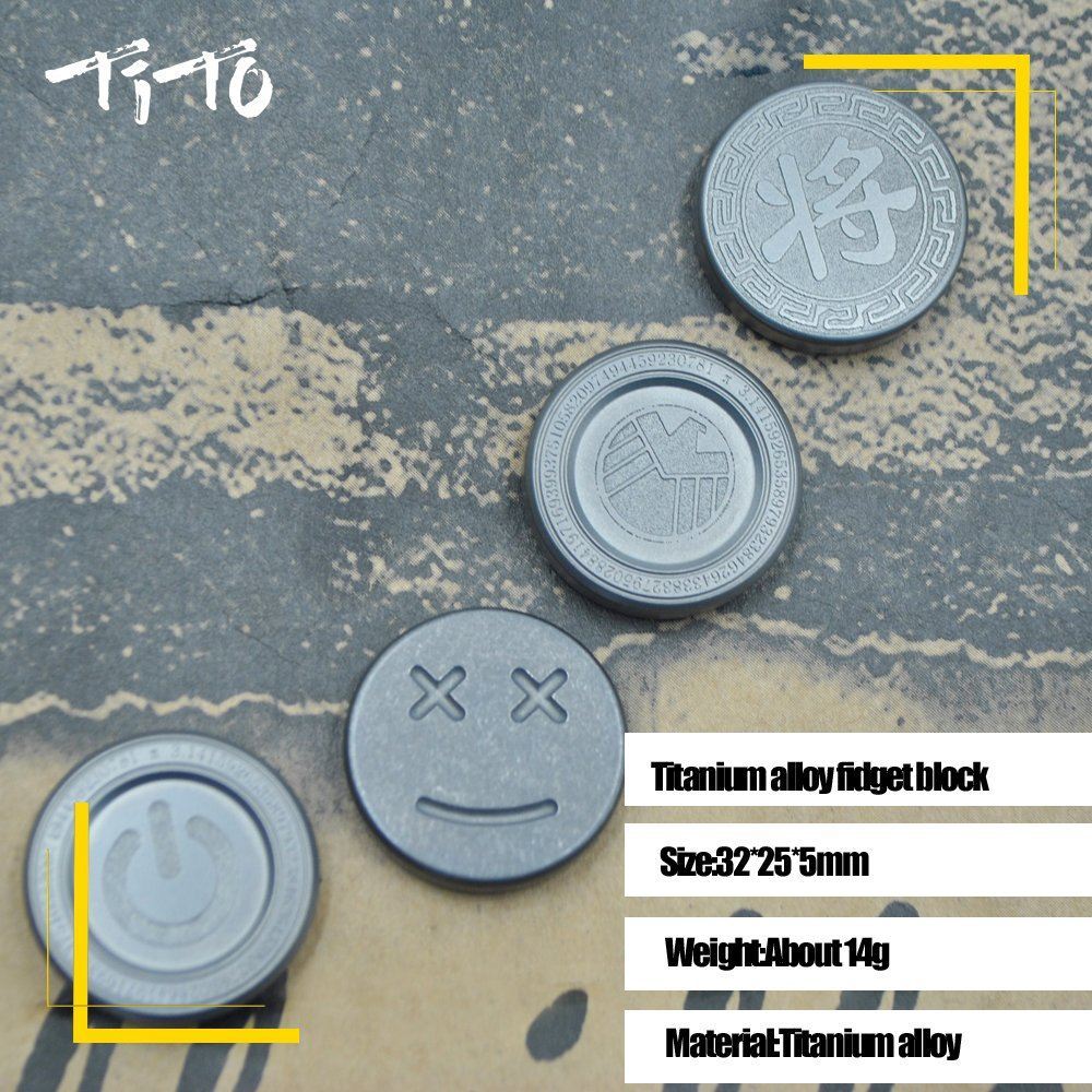 Tito Edc Titanium Alloy Worry Stone Or Fidget Block Hoc Store Cufflinks Set 09 Toys For Kill Time And Decompression Jiang Games