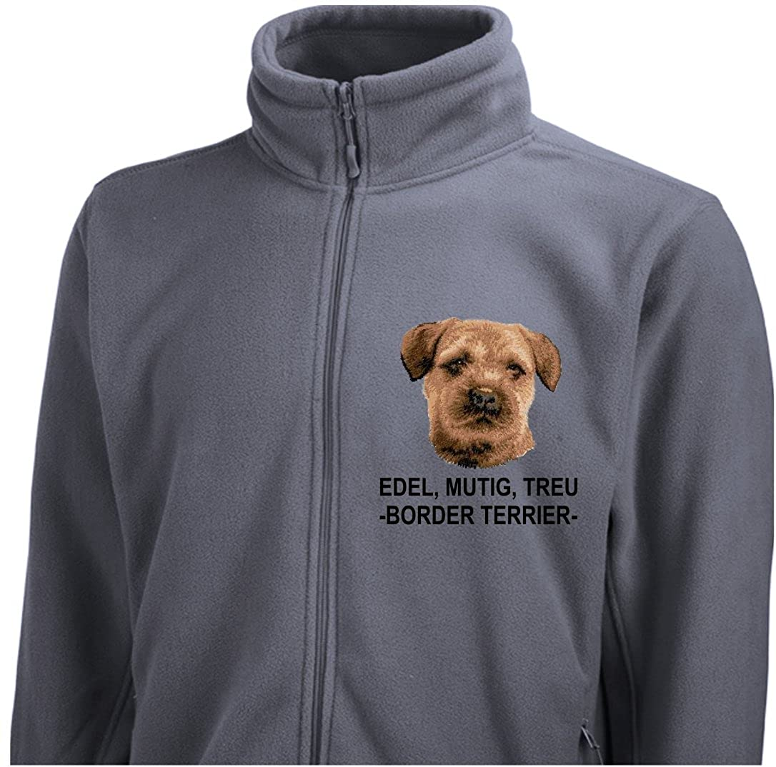 Siviwonder Unisex Fleecejacke BORDER TERRIER Hunde Stickerei S Bis 3Xl