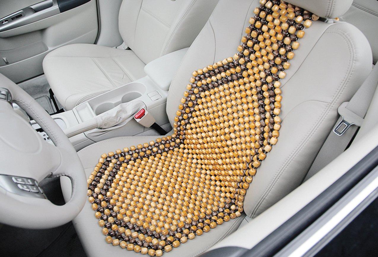 Amazon Com Kool Kooshion Wood Beaded Seat Cushion Automotive
