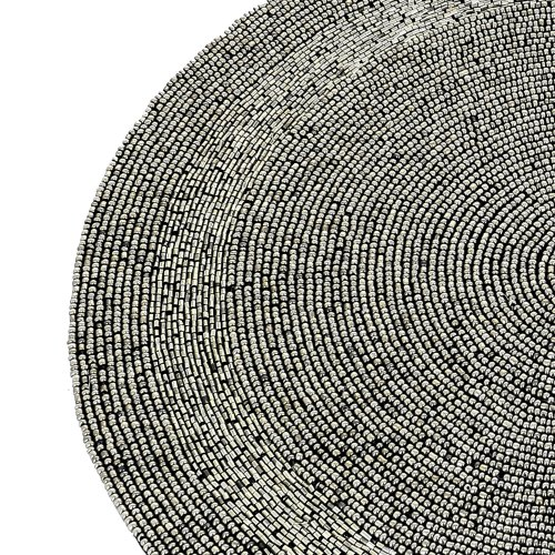 Silver Beaded Placemats Home Decorations Party Handmade By Artisan by ShalinIndia (Image #1)