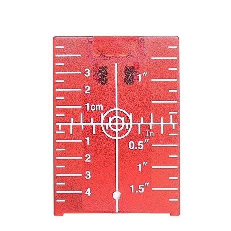 Huepar Red Magnetic Floor Target Plate with Stand for Levelsure 360 Self-Leveling Laser Level  sc 1 st  Amazon.com & Amazon.com: Huepar Red Magnetic Floor Target Plate with Stand for ...
