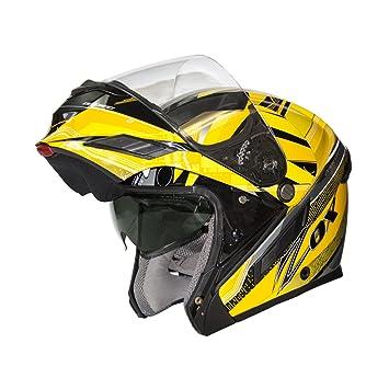 ZOX BRIGADA SVS Voyager para hombre calle casco de moto, color amarillo