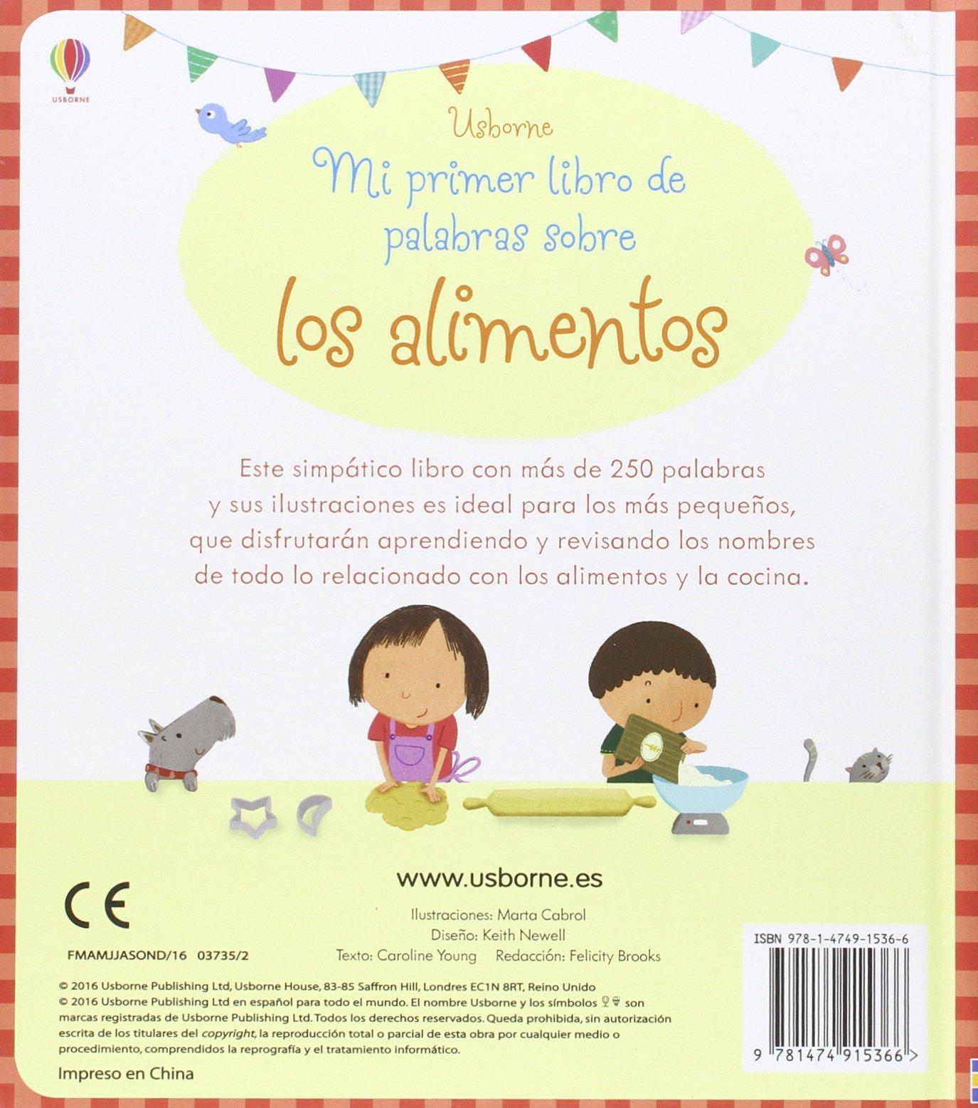 Mi primer libro de palabras sobre los alimentos: CAROLINE: 9781474915366: Amazon.com: Books