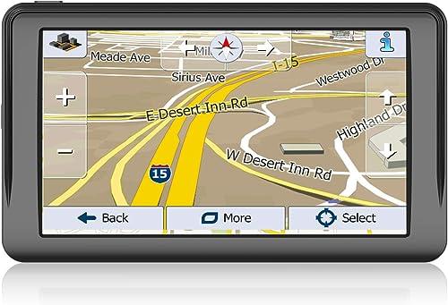 GPS Navigation for Car, 7 inch 8GB 256MB Truck GPS Navigation System,Spoken Turn- to-Turn Traffic Alert Vehicle Car GPS Navigator,Lifetime Free Map Updates