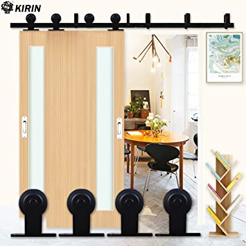 KIRIN kit de herramientas para puerta corredera de madera doble ...
