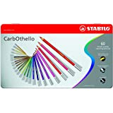 Stabilo CarbOthello Chalk-Pastel Colored Pencil, 4.4 mm - 60-Color Set