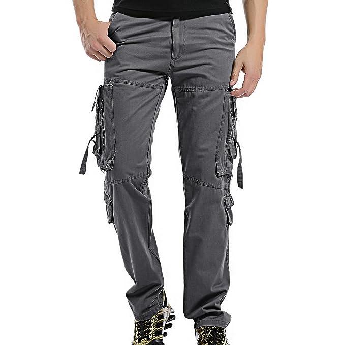 Hombre 28 Trousers Pantalon Cargo Pantalones Pants Algodón Ayg Negro 6PAfwwq 7cfde32a662e